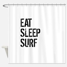 Eat Sleep Surf Shower Curtain