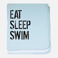 Eat Sleep Swim baby blanket