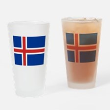 Iceland Flag Drinking Glass