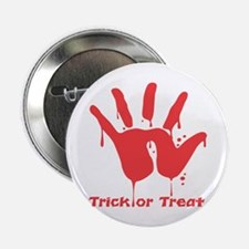 """Black Trick or Treat Hand 2.25"""" Button (10 pack)"""