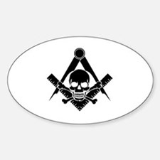 Cute Square and compass Sticker (Oval)