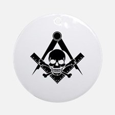 Cute Square and compass Round Ornament