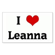 I Love Leanna Rectangle Decal