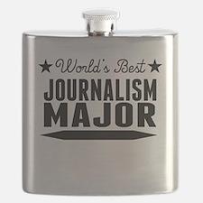 World's Best Journalism Major Flask