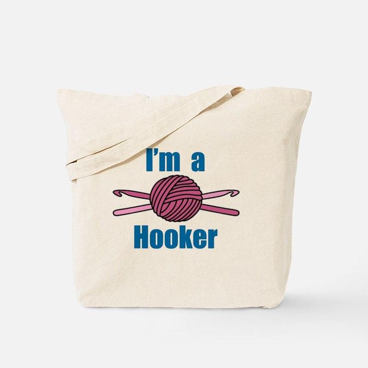 Crochet Hooker Tote Bag