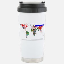 Cool Pink world map Travel Mug
