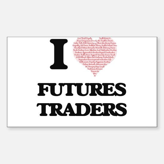 I love Futures Traders (Heart made from wo Decal