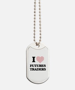 I love Futures Traders (Heart made from w Dog Tags
