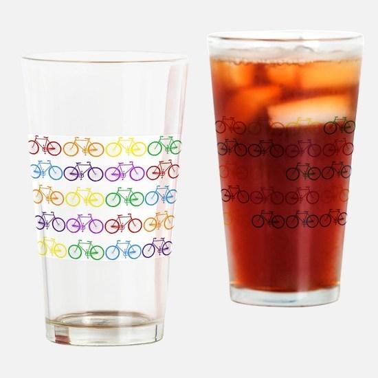 Cute Bikes Drinking Glass
