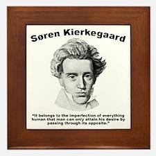 Kierkegaard Desire Framed Tile
