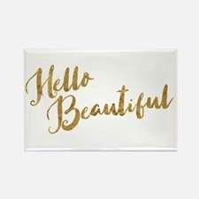 Hello Beautiful Faux Gold Magnets