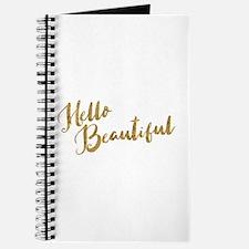 Hello Beautiful Faux Gold Journal