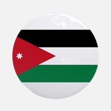 Jordan Flag Round Ornament