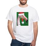 Flamingo Santa Claus White T-Shirt
