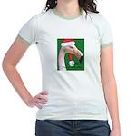 Flamingo Santa Claus Jr. Ringer T-Shirt