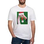 Flamingo Santa Claus Fitted T-Shirt
