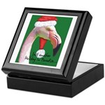 Flamingo Santa Claus Keepsake Box