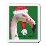 Flamingo Santa Claus Mousepad
