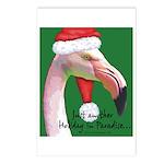 Flamingo Santa Claus Postcards (Package of 8)