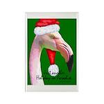 Flamingo Santa Claus Rectangle Magnet (100 pack)