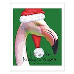 Flamingo Santa Claus Small Poster