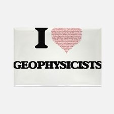 I love Geophysicists (Heart made from word Magnets