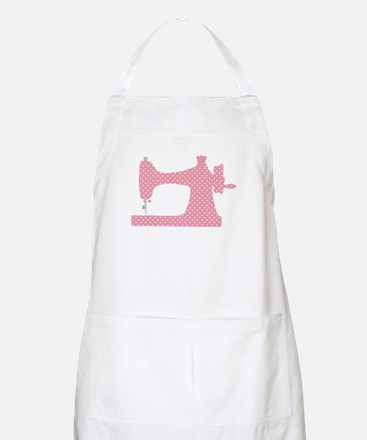 Polka Dot Sewing Machine Apron
