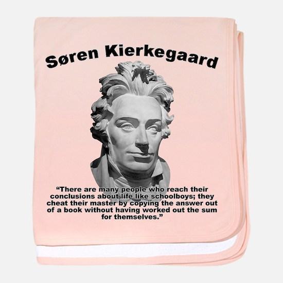 Kierkegaard Conclusions baby blanket
