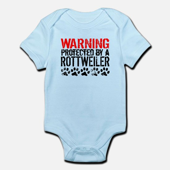 Warning Protected By A Rottweiler Body Suit