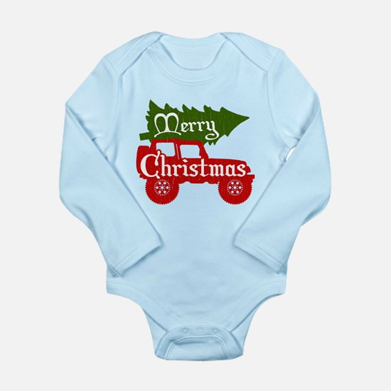 Merry Christmas 4x4 (vintage look) Body Suit