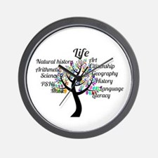 Colorful Life Tree Wall Clock