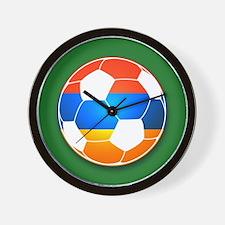 Armenian Soccer Ball Wall Clock