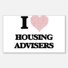 I love Housing Advisers (Heart made from w Decal
