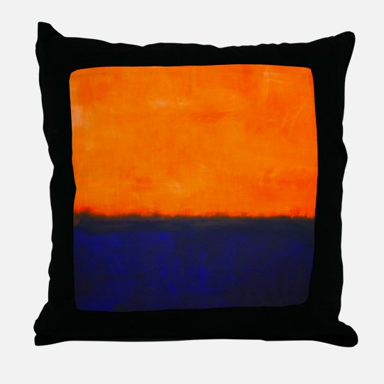 ROTHKO ORANGE AND BLUE Throw Pillow