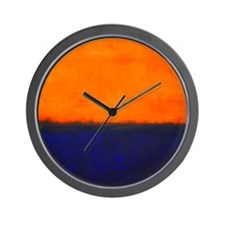 ROTHKO ORANGE AND BLUE Wall Clock