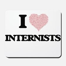 I love Internists (Heart made from words Mousepad