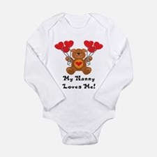 Unique Nanny Long Sleeve Infant Bodysuit