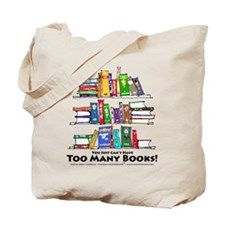 Too Many Books - Black Lettering Tote Bag
