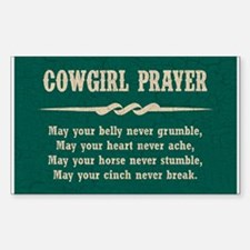 COWGIRL PRAYER Decal