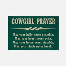 COWGIRL PRAYER Rectangle Magnet
