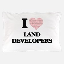 I love Land Developers (Heart made fro Pillow Case