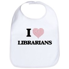 I love Librarians (Heart made from words) Bib