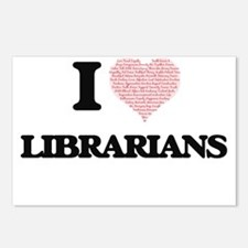 I love Librarians (Heart Postcards (Package of 8)
