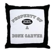 Property of a Bone Carver Throw Pillow