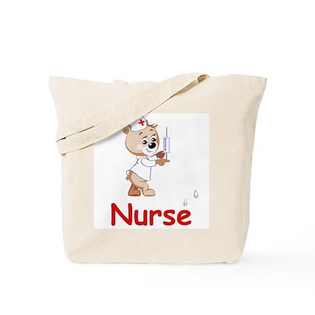 Nurse Bear Tote Bag