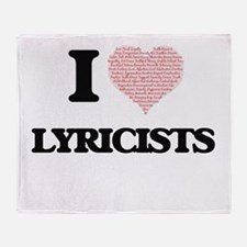 I love Lyricists (Heart made from wo Throw Blanket