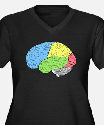 Primary Brain Plus Size T-Shirt