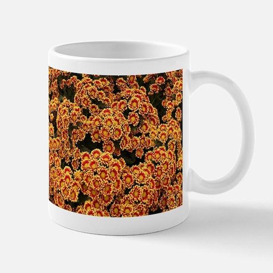Chrysanthemums: yellow & orange Mugs