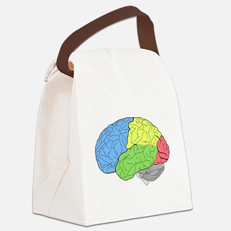 Primary Brain Canvas Lunch Bag