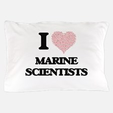 I love Marine Scientists (Heart made f Pillow Case